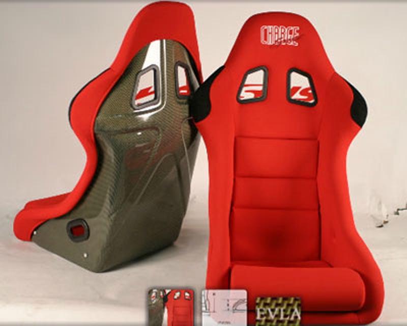 ChargeSpeed Racing Seat Shark Type Kevlar Red (Japanese Kevlar) - BC-HK02