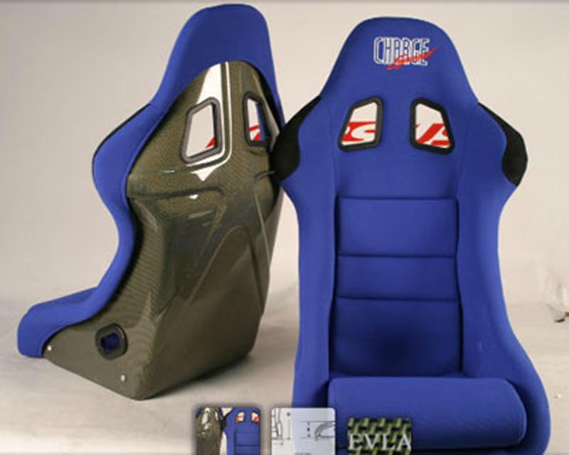ChargeSpeed Racing Seat Shark Type Kevlar Blue (Japanese Kevlar) - BC-HK03
