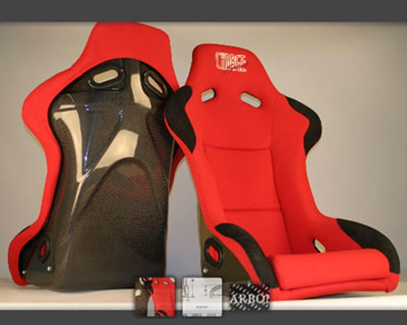ChargeSpeed Racing Seat Sport Type Carbon Red (Japanese CFRP) - BC-SC02