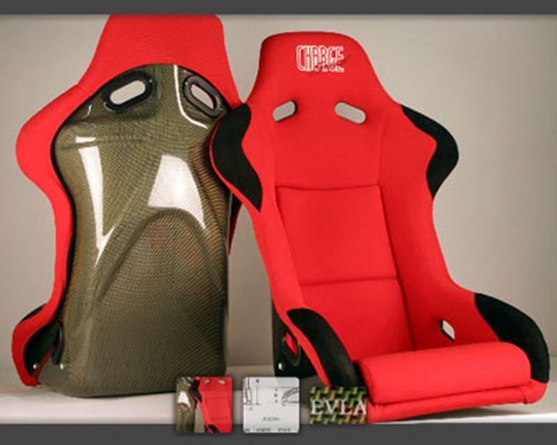 ChargeSpeed Racing Seat Sport Type Kevlar Red (Japanese Kevlar) - BC-SK02