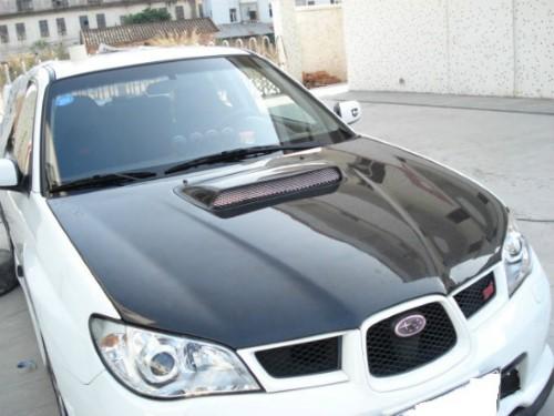 Advan Carbon STi Design Carbon Fiber Hood Scoop Subaru WRX 2006-2007 - BKSI06-AC975HDC