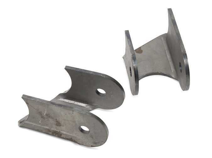 Jeep Lower Control Arm Brackets 30 Degree 76-06 Jeep TJ, LJ, YJ, CJ Front Or Rear Steel Bare Pair GenRight - BKT-3130