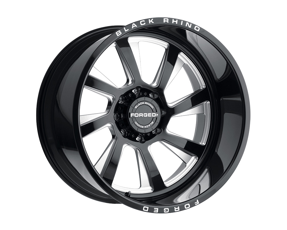 Black Rhino Blaster Wheel 22x14 5x127 -76mm Gloss Black w/Milled Spokes Left - 2214BLR-65127B71L