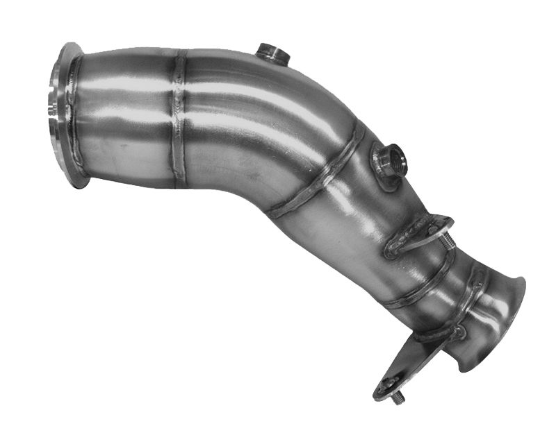 Evolution Racewerks Sports Series 4-Inch 200 Cell High Flow Catted Downpipe Brushed Finish BMW 335i N55 12-13 - BM-EXH007SCAT