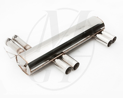 Meisterschaft Stainless GT Racing Axle Back Muffler BMW M3 E46 01-06 - BM0211204