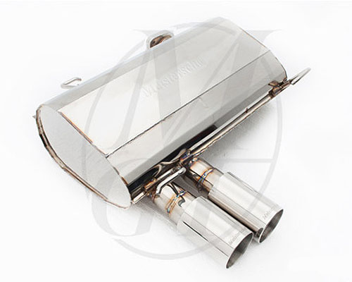 Meisterschaft Stainless GT Racing Axle Back Muffler BMW 320i/xi Sedan / Wagon 05-11 - BM0311201