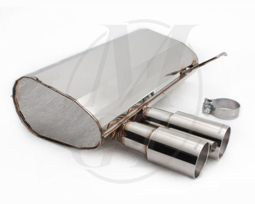 Meisterschaft Stainless GT Racing Axle Back Muffler BMW 328i/xi Coupe / Convertible 06+ - BM0341201