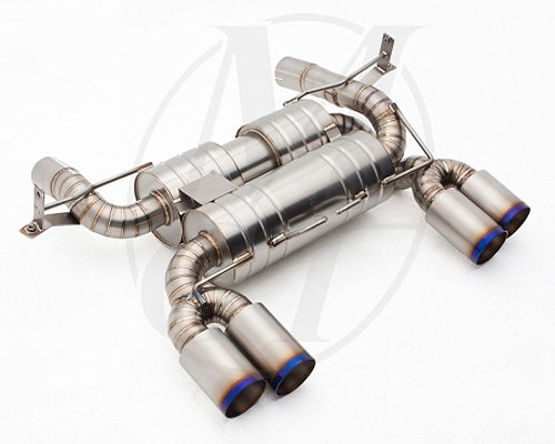 Meisterschaft Titanium GT2 Racing Axle Back Muffler BMW M3 Sedan E90 08-11 - BM0522304