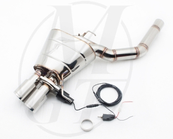 Meisterschaft Stainless GTC Axle Back Muffler 2x83mm Tips BMW 523i/528i Sedan F10 2011