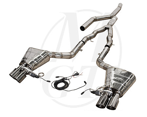 Meisterschaft Stainless GTS Ultimate Catback Exhaust 4x90mm Tips BMW 535i Sedan F10 11+ - BM1121505