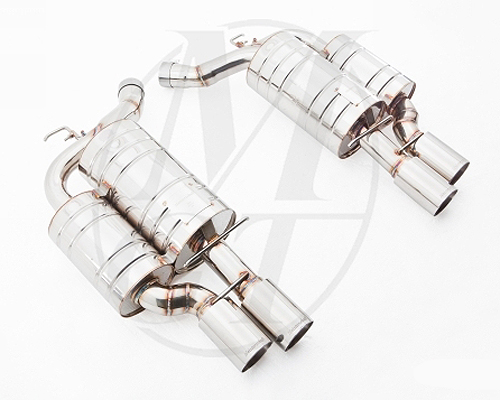 Meisterschaft Stainless GTS Ultimate Axle Back Muffler 4x90mm Tips BMW M6 Coupe / Convertible 05-10 - BM1411505