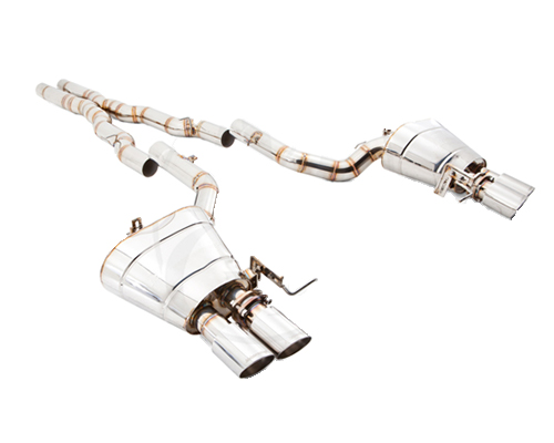 Meisterschaft Stainless GTS Ultimate Axle Back Muffler System 4x90mm Tips BMW 650i | 650xi Gran Coupe F06 13-15 - BM2521505