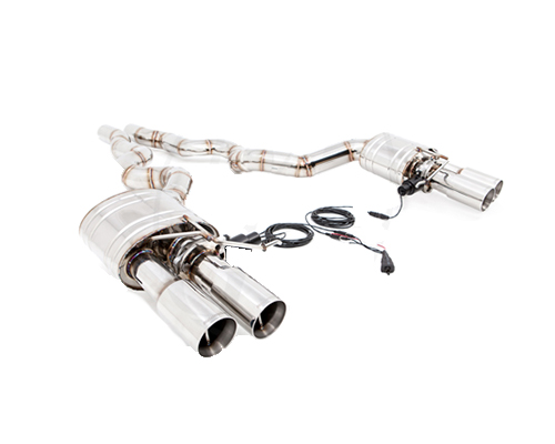 Meisterschaft Stainless GTC Axle Back Muffler System 4x102mm Tips BMW F06 M6 Gran Coupe 14-18 - BM2711606