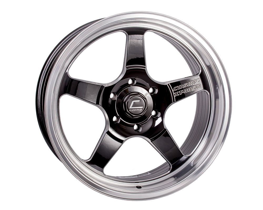 Cosmis Racing XT-005R Wheel 20x9.5 6x139 +15mm Black w/ Machined Lip - XT005R-2095-15-6x1397-BML