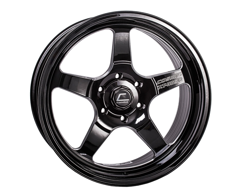 Cosmis Racing XT-005R Wheel 20x9.5 6x139 +15mm Black w/ Machined Spoke - XT005R-2095-15-6X1397-BMS