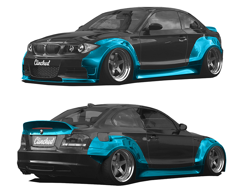 Clinched Flares Widebody Kit with Ducktail Spoiler BMW 1-Series | 1-Series M E82 07-13 - BMW-E82
