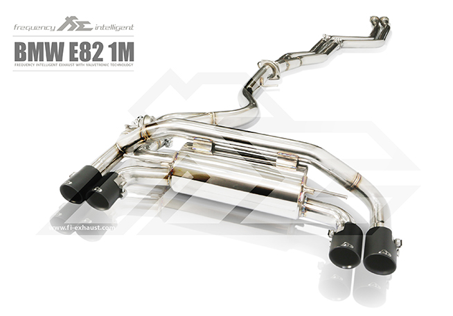 FI Exhaust Front and Mid Pipe Valvetronic Muffler with Quad Tips BMW 1M E82 11-12 - BN-1M-CBV + TIP-1M-S