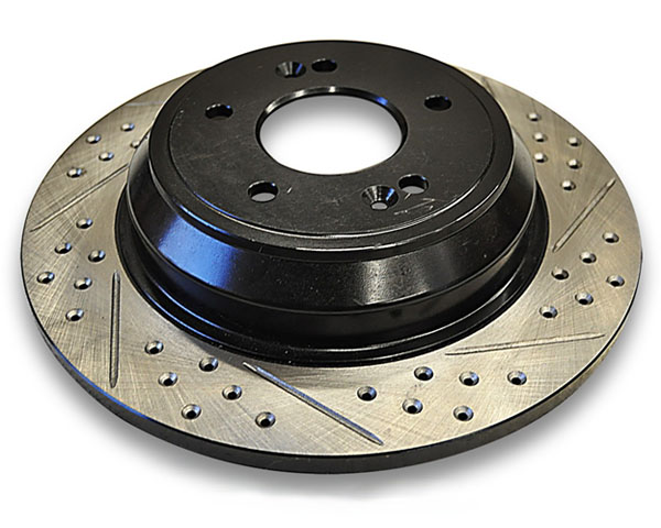 Image of ARK Drilled Slotted Rear Rotors Hyundai Genesis Coupe wBrembo Brakes 10-12
