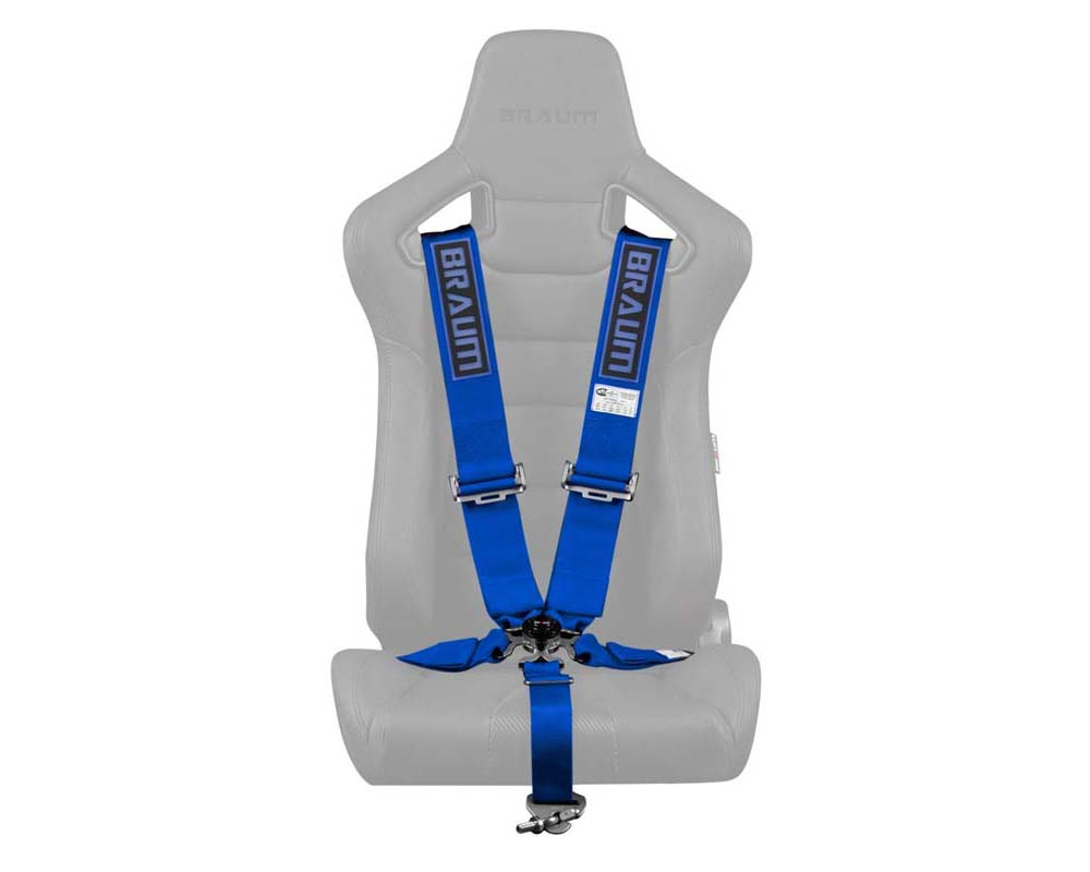 """Braum Racing 5 Point 3"""" SFI Approved Racing Harness - Blue - BRH-BUS5"""