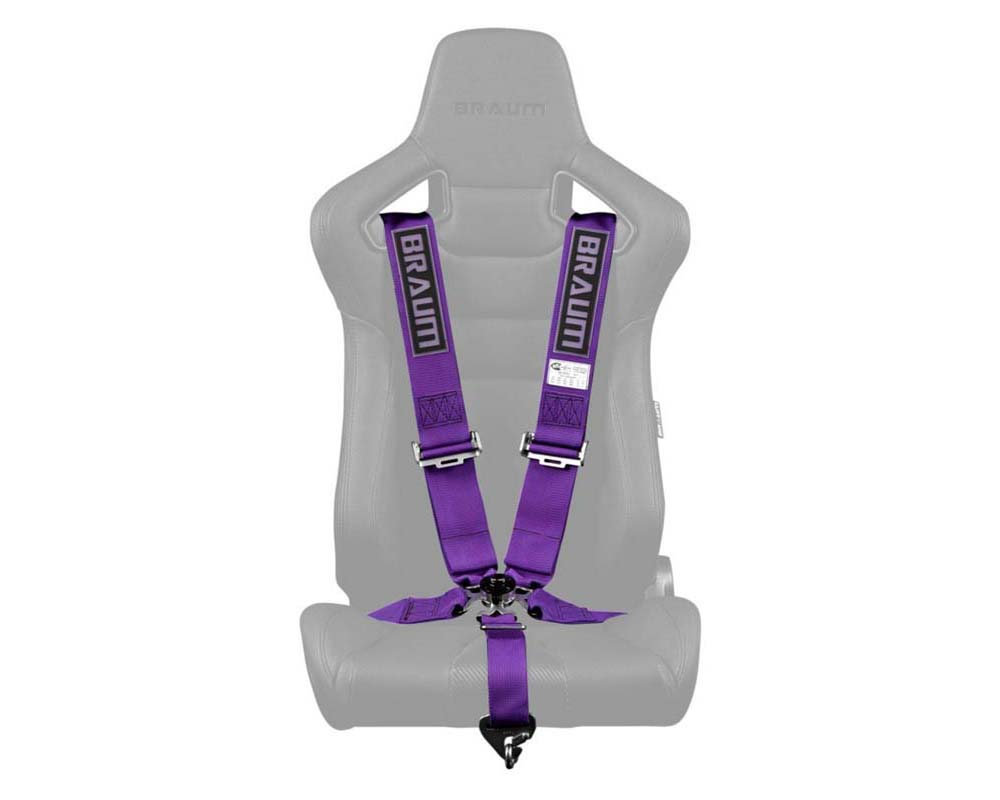 """Braum Racing 5 Point 3"""" SFI Approved Racing Harness - Purple - BRH-PUS5"""