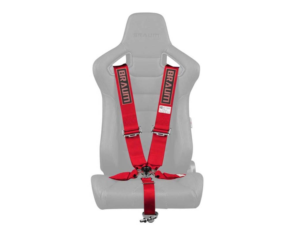 """Braum Racing 5 Point 3"""" SFI Approved Racing Harness - Red - BRH-RDS5"""