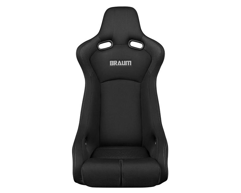 Braum Racing Venom-R Series Fixed Back Bucket Seat - Black Cloth|Carbon Fiber - BRR7-BKFB
