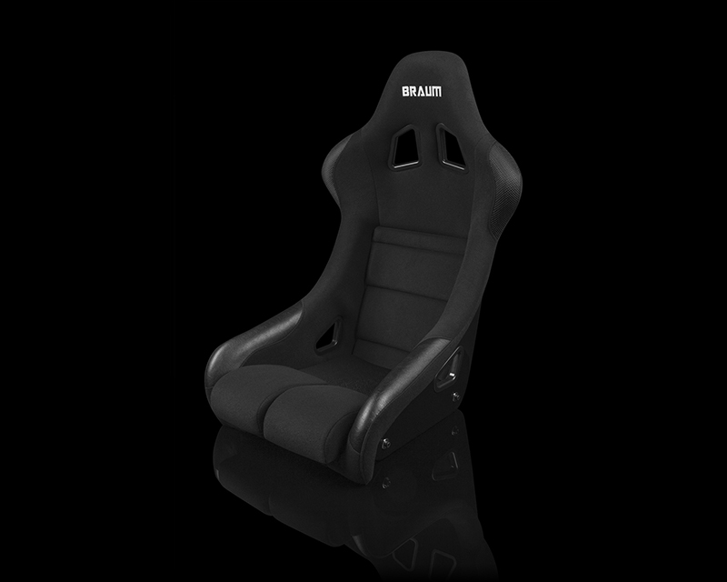 Braum Racing FIA Approved Falcon Series Fixed Back Racing Seat Black Cloth - BRR9-BKBC