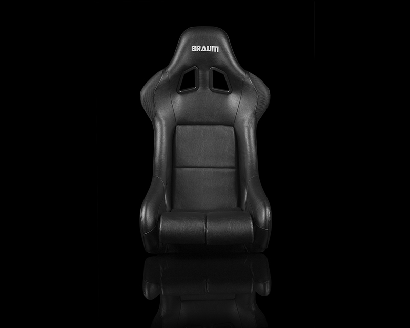 Braum Racing FIA Approved Falcon Series Fixed Back Racing Seat - Black Leatherette - BRR9-BKBK