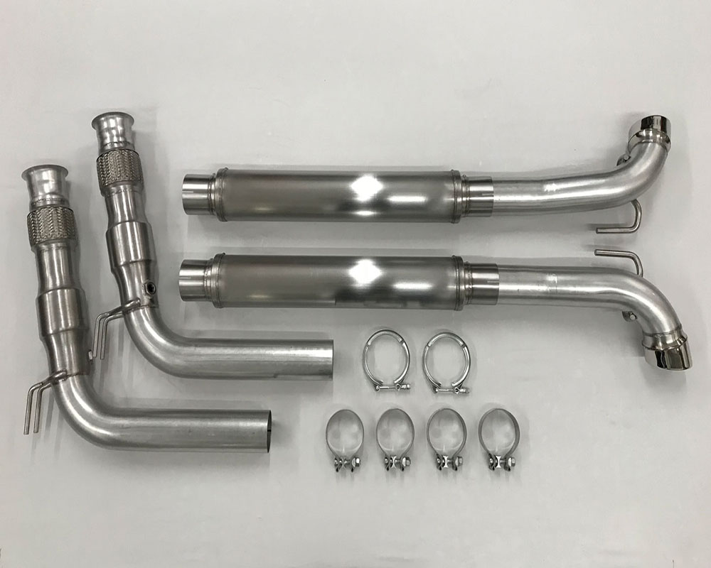 Belanger Mid Pipes w/ Cats | Flex Pipes and Brackets manifold and Cat Back Dodge ViperSRT Roadster | Coupe/ACR 08-10 - 5625-1