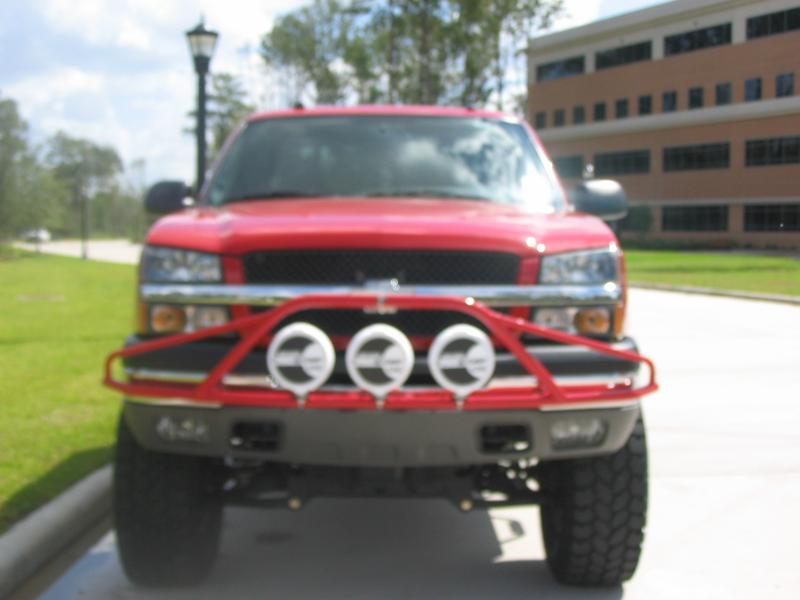 N Fab Gloss Black Pre Runner Light Bar Chevrolet 3500 03 06