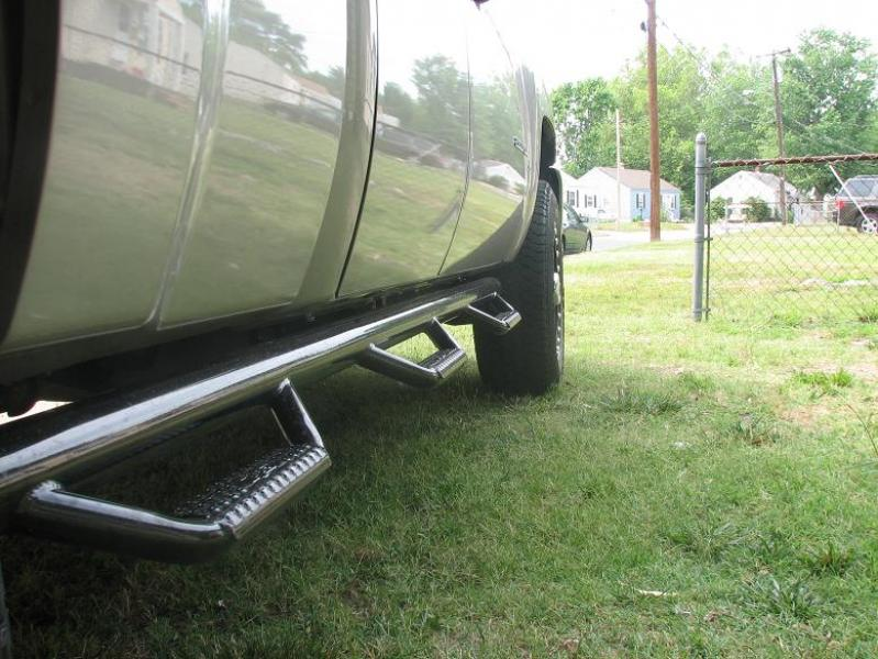 N-FAB Bed Access Nerf Step Gloss Black Chevrolet 1500 Extended Cab 8' Long Bed 07-13 - C07105QC-6