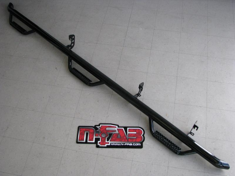 N-FAB Bed Access Nerf Step Gloss Black Chevrolet 1500 Extended Cab 8' Long Bed 99-06 - C99105QC-6