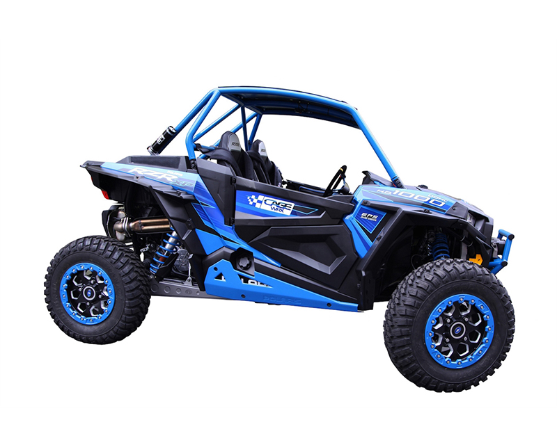 CageWrx Unfinished Steel Fully Assembled Race Cage with Roof and Tabs Polaris RZR XP Turbo 16-18 - CAG2SXP1KRC