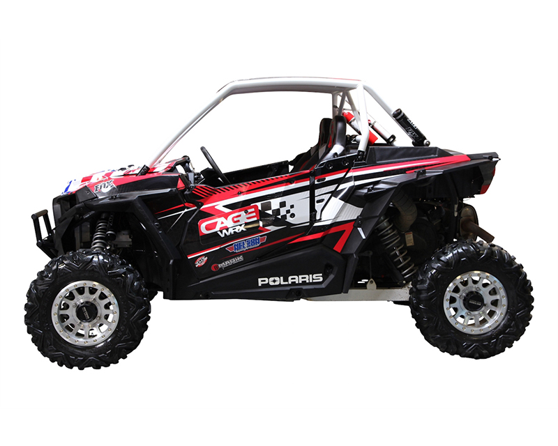 CageWrx Unfinished Steel Fully Assembled Super Shorty Roll Cage with Roof Polaris RZR XP Turbo 16-18 - CAG4SXP1KSS