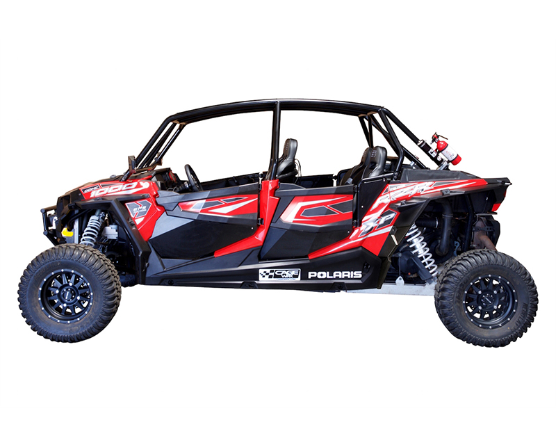 CageWrx Unfinished Steel Fully Assembled Race Cage with Roof and Tabs Polaris RZR XP 4 1000 - CAG4SXP1KRC