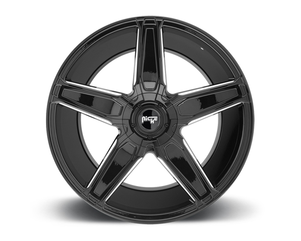 Niche Cannes Gloss Black & Milled 18x8 5x110 38mm - M180188037+38