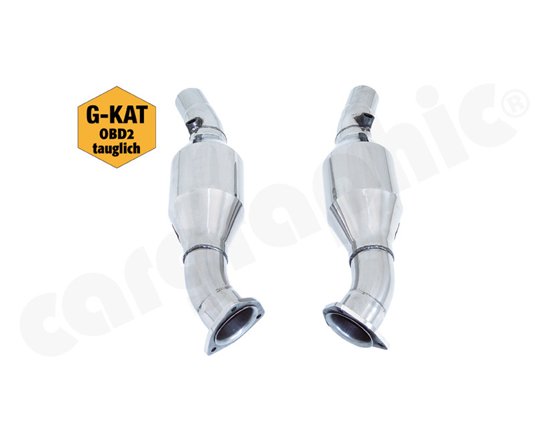 Cargraphic Catalytic Converter Set Obd2 Compliant Ferrari 430 V8 04-09 - CARFE430KAT