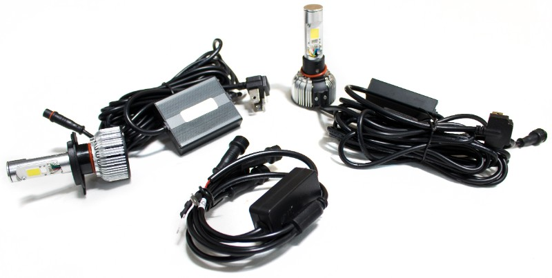 Race Sport Lighting H13 Demon Eye  LED Headlight Conversion Kits - Dual Function Kit with driving and accent functions - H13CARGB