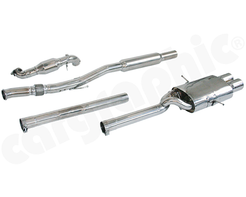 Cargraphic Turbo-Back Exhaust System with Integrate Exhaust Flap Mini Cooper S R56 07-13 - CARMIR56CSTB1