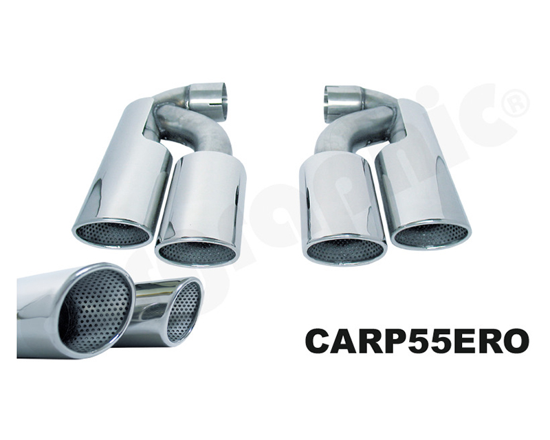 Cargraphic Tailpipe Set Double End 4x89x115mm Oval Polished Porsche Cayenne 02-17 - CARP55ERO1