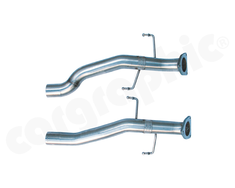 Cargraphic Secondary Catalytic Race Pipe Set Porsche Cayenne 955 Turbo| Turbo S 03-10 - CARP55TKATER
