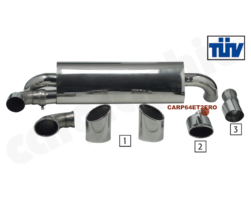 Cargraphic Silencer Turbo S Look Porsche 964 89-94 - CARP64ET2ERO
