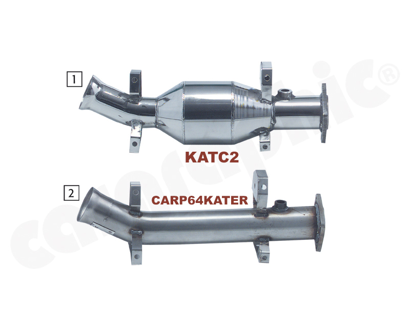 Cargraphic Catalytic Converter Porsche 964 89-94 - KATC2
