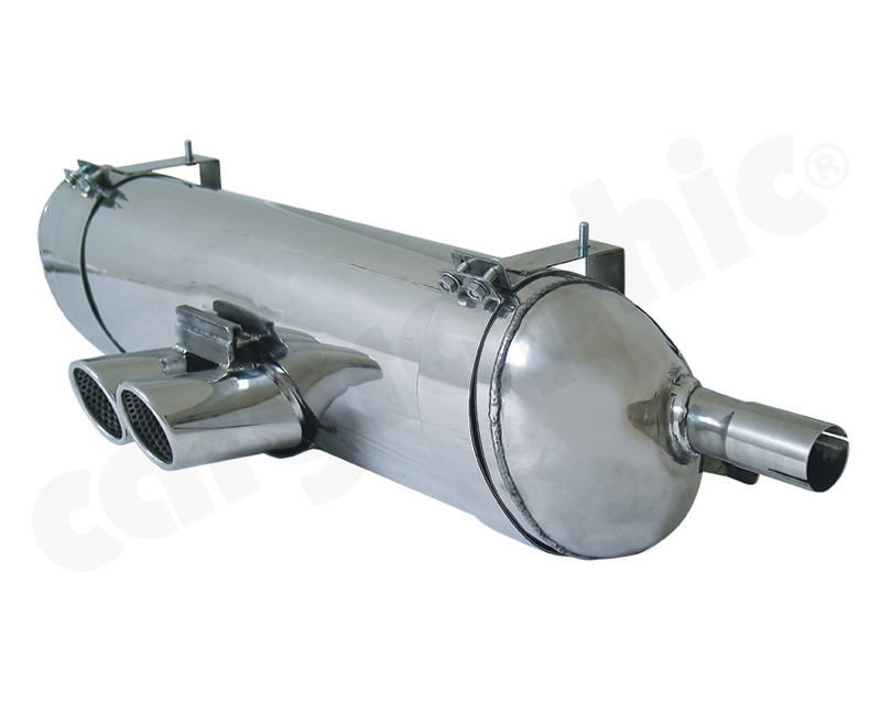 Cargraphic Silencer Super Sound Version with 2x76mm Tailpipes Porsche Boxster 00-04 - CARP86SETSR