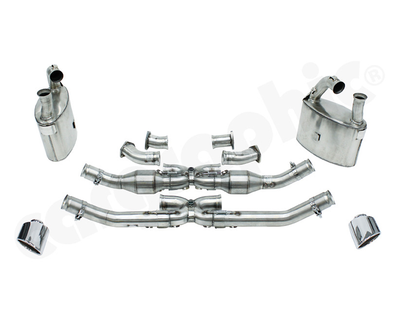 Cargraphic Exhaust System Bischoff Application with X- Pipe Version Catalysers Porsche 993 93-98 - CARP93NGTKATXBKIT