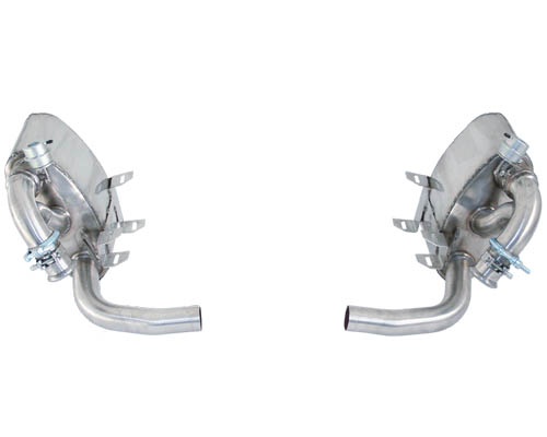 Cargraphic Exhaust System with integrated flaps Porsche 996 C2/C4 98-05 - CARP96ETFLAP