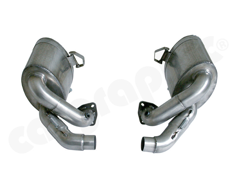 Cargraphic Silencer Set Motorsport Homologated with 3 Hole Flange Fitting Porsche 997.2 Gt3 10-11 - CARP97Cup07VSD