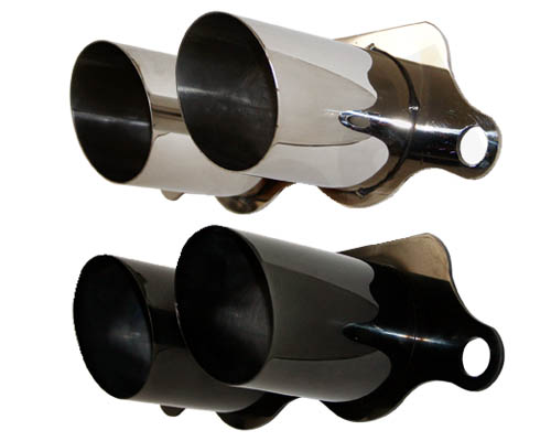 Cargraphic Stainless Steel Polished Exhaust Tips Porsche 997 997.2 GT3 07-11 - CARP97GT3350