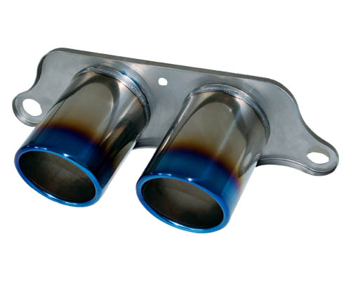 Cargraphic Titanium Burned Exhaust Tips Porsche 997 997.2 GT3 07-11