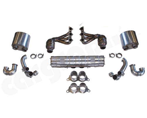 Cargraphic Exhaust Kit 2 Quieter Motorsport Version Porsche 997.2 GT3 10-11 - CARP97GT3KIT238